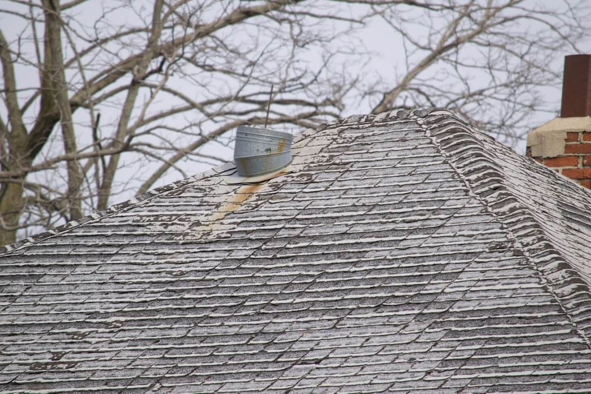 The top of a home's roof